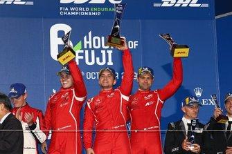 Podium GTE AM: #90 TF Sport Aston Martin Vantage AMR: Salih Yoluc, Charlie Eastwood, Jonathan Adam