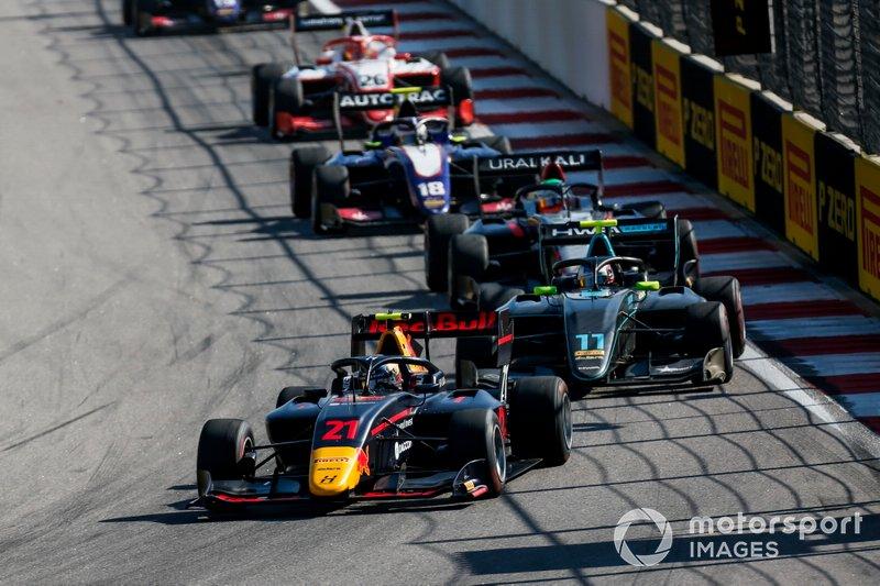 Juri Vips, Hitech Grand Prix and Jake Hughes, HWA RACELAB