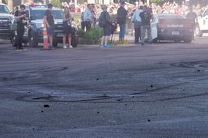 Quema de caucho en Las Vegas Motor Speedway