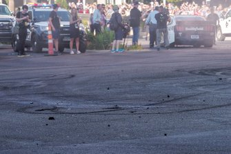 Burn out rubber on Las Vegas Motor Speedway
