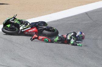Leon Haslam, Kawasaki Racing Team crash