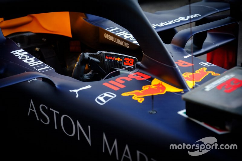Red Bull Racing RB15 cockpit of Max Verstappen
