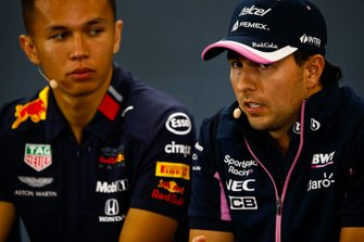 Sergio Perez, Racing Point, Alex Albon, Red Bull Racing