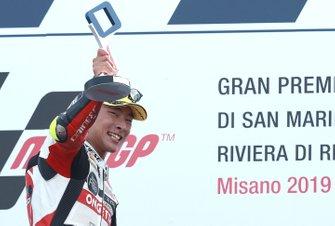 Podium: race winner Tatsuki Suzuki, SIC58 Squadra Corse