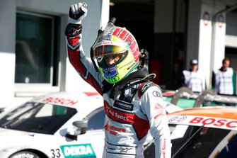 Pole sitter Jamie Green, Audi Sport Team Rosberg