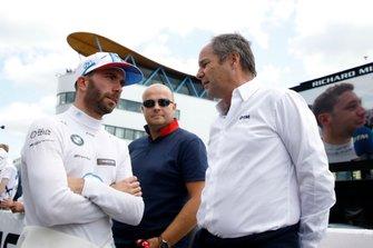 Philipp Eng, BMW Team RBM with Gerhard Berger, ITR Chairman
