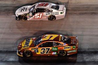 Chris Buescher, JTG Daugherty Racing, Chevrolet Camaro BUSH'S Beans and B.J. McLeod, Petty Ware Racing, Chevrolet Camaro Pinnacle Sports and Entertainment
