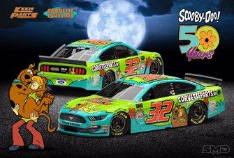 Pintura do carro #32 de Corey LaJoie para etapa de Martinsville
