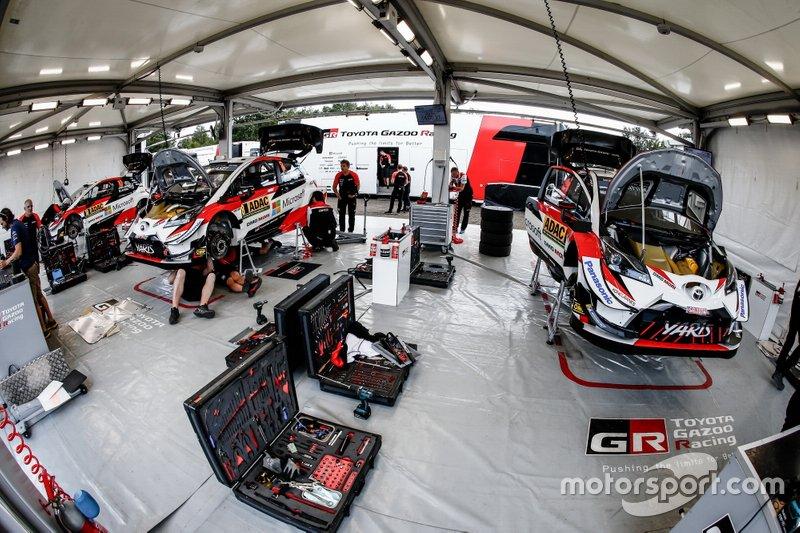 Toyota Gazoo Racing WRT team area