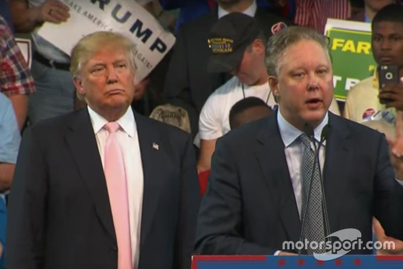 Donald Trump y Brian France
