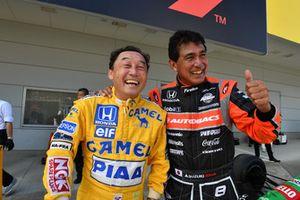 Satoru Nakajima and Aguri Suzuki at Legends F1 30th Anniversary Lap Demonstration