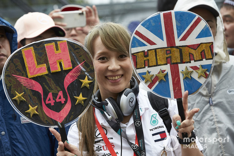 A fan of Lewis Hamilton, Mercedes AMG F1