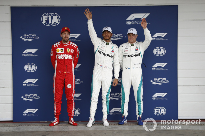 Sebastian Vettel, Ferrari, Lewis Hamilton, Mercedes AMG F1, Valtteri Bottas, Mercedes AMG F1