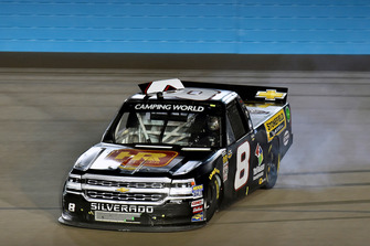 John Hunter Nemechek, NEMCO Motorsports, Chevrolet Silverado Hostetler Ranch / Stonefield Home spins