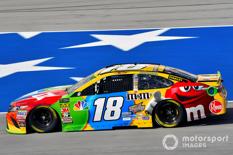 10. Kyle Busch, Joe Gibbs Racing, Toyota Camry M&M's