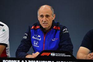 Franz Tost, Team Principal, Scuderia Toro Rosso Team Principal, nella conferenza stampa