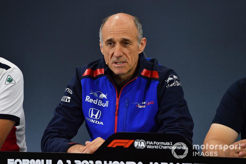 Franz Tost, director de la Scuderia Toro Rosso en rueda de prensa