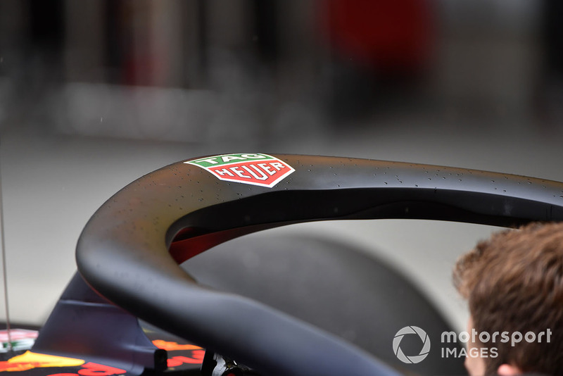 Halo on Red Bull Racing RB14