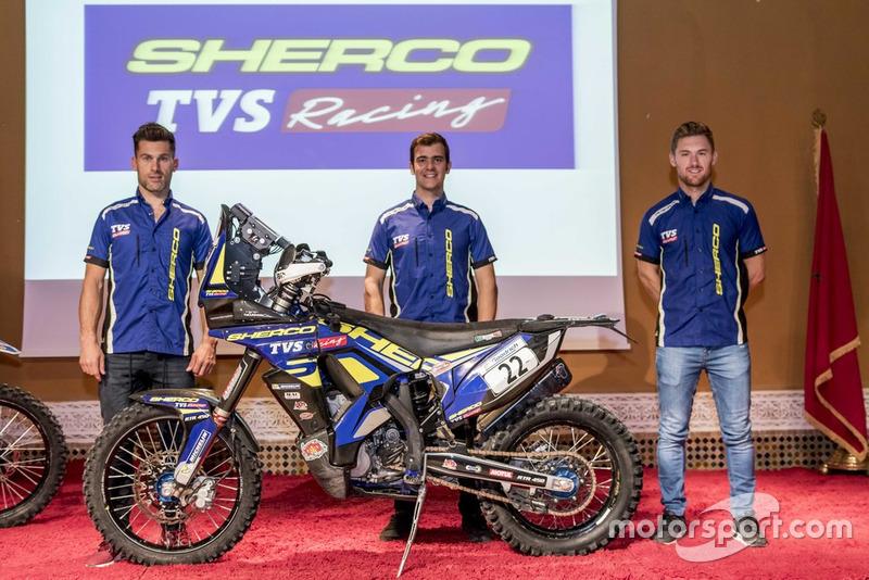 Michael Merge, Sherco TVS, Lorenzo Santolino, Sherco TVS y Adrien Merge, Sherco TVS