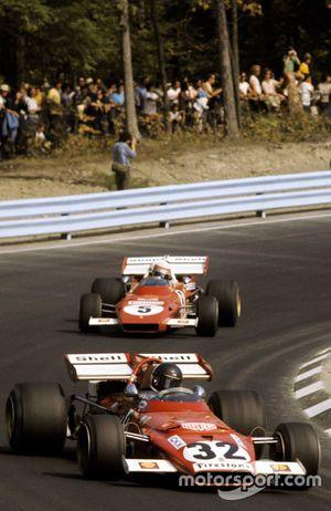 Jacky Ickx, Ferrari 312B, voor Clay Regazzoni, Ferrari 312B2