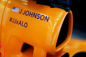 Name of Jimmie Johnson on McLaren airbox