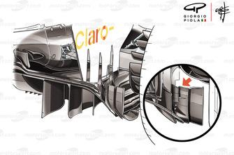 Sauber C37 detalle del difusor