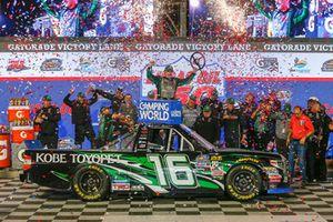 Brett Moffitt, Hattori Racing Enterprises, Toyota Tundra KOBE in victory lane