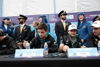 Mitch Evans, Panasonic Jaguar Racing, Nelson Piquet Jr., Panasonic Jaguar Racing sign autographs for fans at the autograph session