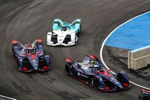 Sam Bird, Envision Virgin Racing, Audi e-tron FE05 Robin Frijns, Envision Virgin Racing, Audi e-tron FE05, Oliver Turvey, NIO Formula E Team, NIO Sport 004
