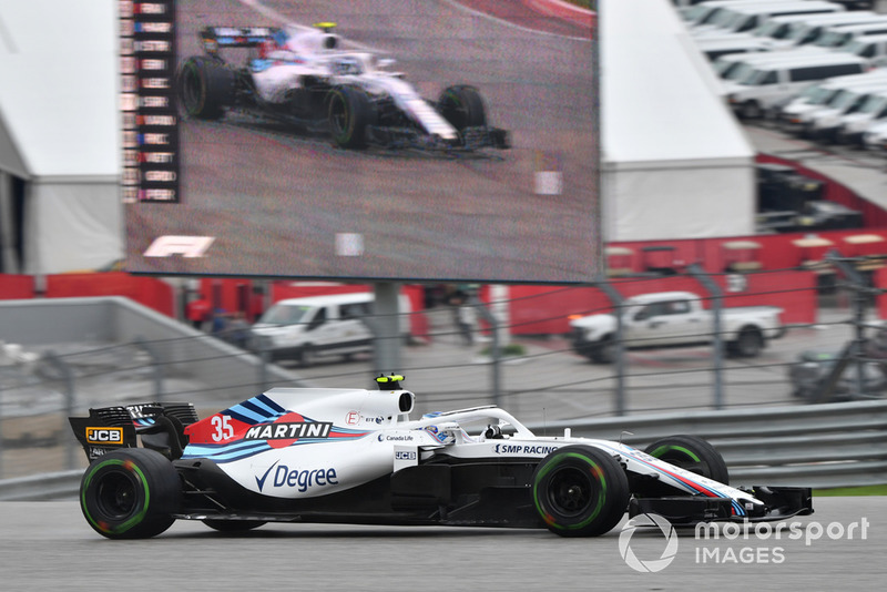 Sergey Sirotkin, Williams FW41, in pista e sullo schermo