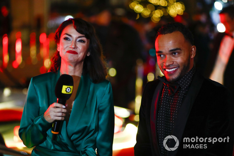 Nicolas Hamilton being interviewed on the red carpet