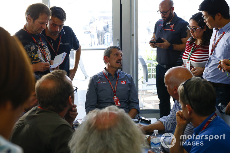 Guenther Steiner, Team Principal, Haas F1, is interviewed