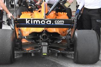 Detalle trasero McLaren MCL33