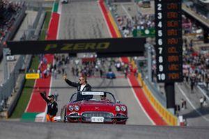 Valtteri Bottas, Mercedes AMG F1 tijdens de rijdersparade