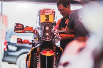 Bike of #3 Red Bull KTM Factory Racing KTM: Toby Price