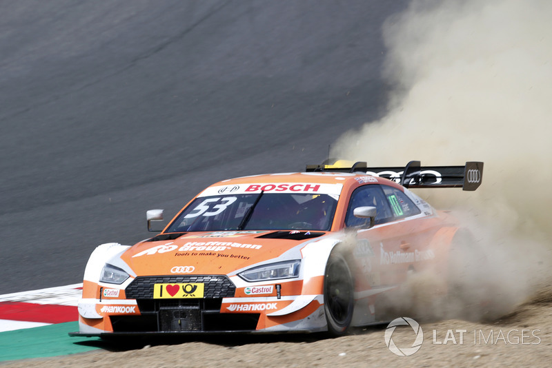 11. Jamie Green, Audi Sport Team Rosberg, Audi RS 5 DTM through the gravel