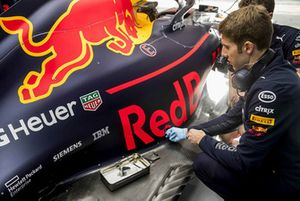Red Bull Racing ExxonMobil engineer at work