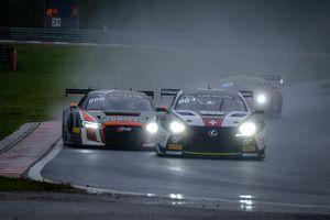 #14 Emil Frey Lexus Racing Lexus RC F GT3: Christian Klien, Albert Costa, #66 Attempto Racing Audi R8 LMS: Steijn Schothorst, Kelvin van der Linde