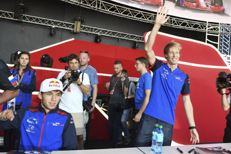 Pierre Gasly, Scuderia Toro Rosso et Brendon Hartley, Scuderia Toro Rosso