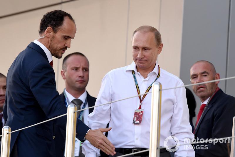 Alexandre Molina, Allsport Management ve Vladimir Putin, Rusya Başkanı