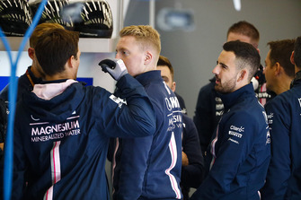 Engineers in the Force India garage