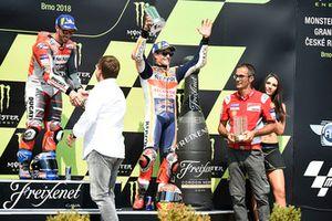 Podio: ganador de la carrera Andrea Dovizioso, Ducati Team, tercer puesto Marc Marquez, Repsol Honda Team