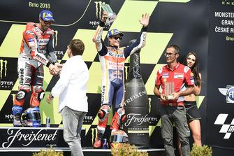 1. Andrea Dovizioso, Ducati Team, 3. Marc Marquez, Repsol Honda Team