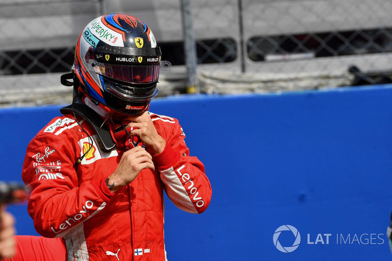 Pole sitter Kimi Raikkonen, Ferrari