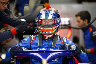 Brendon Hartley, Toro Rosso, entre dans sa monoplace