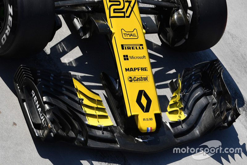 Renault Sport F1 Team R.S.18 nose and front wing