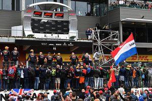 Red Bull Racing at podium