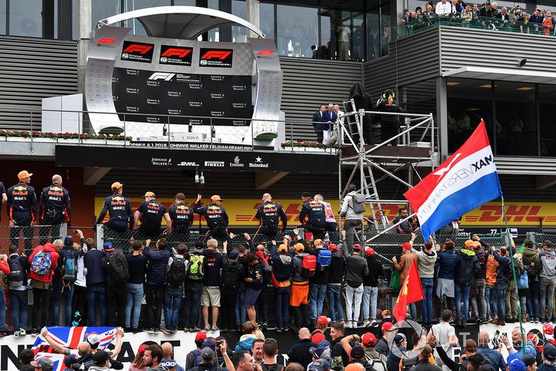 Red Bull Racing pod podium