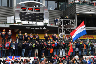 Red Bull Racing at podium