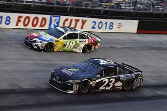 Blake Jones, BK Racing, Toyota Camry Tennessee XXX Moonshine and Kyle Busch, Joe Gibbs Racing, Toyota Camry M&M's White Chocolate